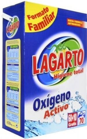 détergent LESSIVE EN POUDRE LAGARTO  60+10 doses