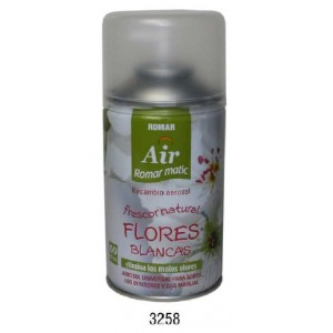 Recharge Désodorisant Automatique FLEURS BLANCHES 335 ml